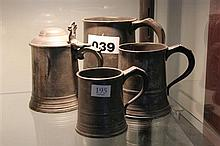 4x Pewter Tankards