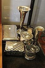 Collection of EPNS Wears inc Box Trumpet Vase and Others