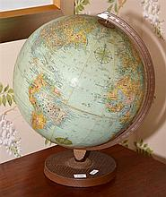 A LARGE VINTAGE AMERICAN GLOBE OF THE WORLD