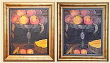 ARTIST UNKNOWN - A Pair of Still Life's (2 PCS) 59 x 50 cm