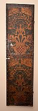 A PAIR OF VICTORIAN DRESSING SCREEN PANELS H: 178 (EACH)