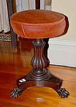 WILLIAM IV REVOLVING PIANO STOOL