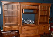 LARGE BREAKFRONT TIMBER ENTERTAINMENT UNIT