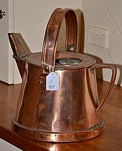 EARLY ENGLISH COPPER WATERING CAN
