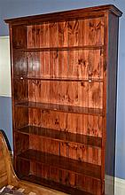 LARGE TIMBER SHELVING UNIT