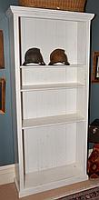 WHITE PAINTED SHELVING UNIT