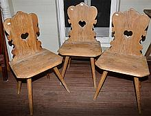 THREE FOLK ART FINE CHAIRS