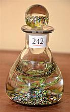 A LARGE ART GLASS PAPERWEIGHT PERFUME BOTTLE