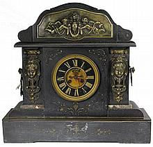Slate & Brass Mantle Clock
