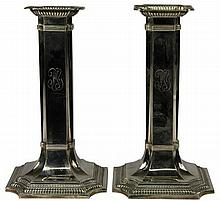 American Sterling Silver Pair of Candlesticks