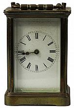 English Brass Carriage Clock