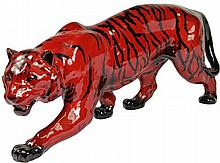 Royal Doulton Flambé Stalking Tiger Figure