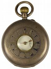 Swiss Silver 935 Standard Half Hunter Pocket Watch