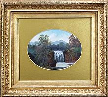 Artist Unknown - Landscape With Waterfall