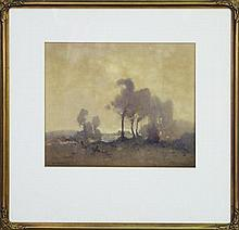 Reginald Ward Sturgess (1892 - 1932) - Untitled (Landscape) 29 x 33.5cm
