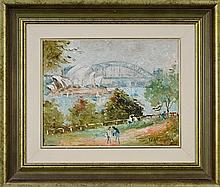 Wilmotte Williams (1916 - 1992) - Sydney Harbour From Mrs Macquaries Chair 30.5 x 40.5cm