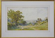 Roberto Angelo Kittermaster Marshall (1849 - 1926) - Country Scene With Sheep 34 x 58.5cm