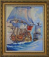 D' Arcy W. Doyle (1932 - 2001) - Spanish Galleon 55 x 44cm