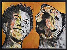 Gillie and Marc (XXI -) - Boy & Dog (diptych) 76 x 102cm (total size)