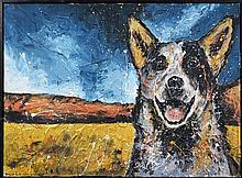 Gillie and Marc (XXI -) - Dog (diptych) 76 x 101cm (total size)