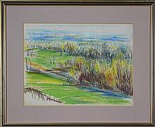 Jean Appleton (1911 -2003) - Early Spring - Silver Birches at High Button 22.5 x 29.5cm