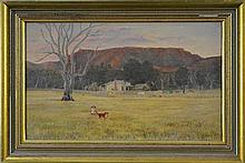 E.M. Bowe (XIX-XX) - Rural Scene with Child and Dog 28.5 x 40.5cm