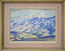 Alfred Herbert Cook (1907 - 1970) - The High Range, Mirrannie 19.5 x 24.5cm