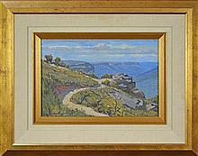 Julian Richard Ashton (1913 - 2001) - View of Jemison Valley towards Mount Solitary from Gordon Falls Lookout 23 x 34.5cm