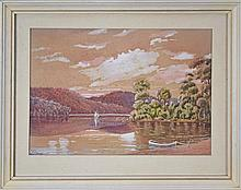 F.J. Lloyd (1874 - 1956) (2 works) - Untitled - River Scenes 20 x 27cm each