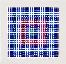 Victor Vasarely (1906 - 1997) - Untitled 28 x 28cm