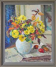 Ida G. Eise (1894 - 1978) - Study of Flowers & Fruit 40 x 50cm
