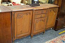 Louis XV Style Oak Sideboard, with parquetry top, three doors & two doors (key in office)