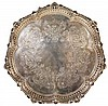 English Hallmarked Sterling Silver Victorian Salver