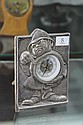 English Hallmarked Sterling Silver Comical Cased Clock