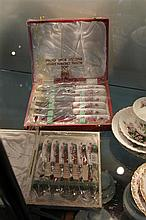Royal Crown Derby Set of Knives and Forks in Box