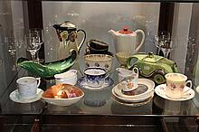 collection of China and Orrefores Glasses incl Royal Doulton, Shelley, Carlton Ware , etc