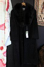 Lambswool Coat Fox Collar