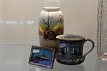 Butterfly Wing Picture Royal Doulton Jug and Coaching Days Vase a.f