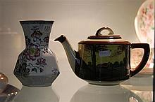 Royal Doulton Tea Pot and Masons Vase a.f