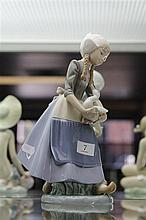 Lladro Figure of Girl with Ducks
