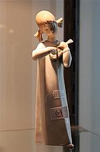 Lladro 'Girl with Guitar' by Fulgoncio Garcia