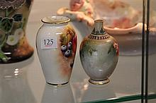 Royal Worcester Hand Painted Vases (AF)