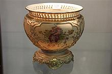 Royal Worcester Hand Coloured Jardiniere restored