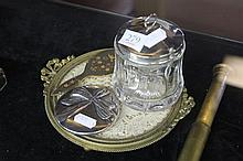 English Hallmarked Sterling Silver Lidded Container with Other Wares incl a Tiffany & Co Mirror