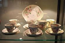 Royal Doulton 'Blossom' Tea Set no sugar, 1 cup with crack