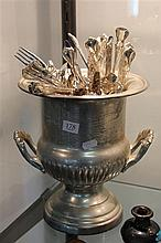 Silver Plated Champagne Bucket with Rodd Cutlery Service