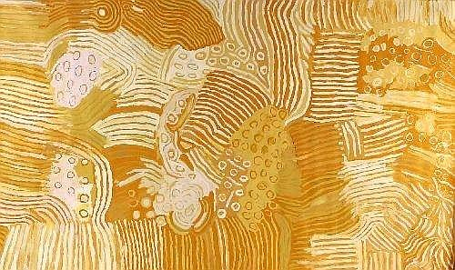 [ AUSTRALIAN / ABORIGINAL ART ] MAKINTI NAPANANGKA (1930 - ) Kungka Kutjarra (Two Women), Hair String, 2003 synthetic polymer paint on linen 300 x 180 cm E50000-60000 Provenance: Central Art, Alice Springs. Catalogue Number 031141 Private Collection,