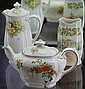 Three Royal Doulton Pieces Incl, 'Primrose' Coffee Pot, 'Rosalynd' Teapot & 'Old English' Vase