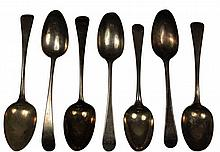 English Hallmarked Sterling Silver George III Spoons