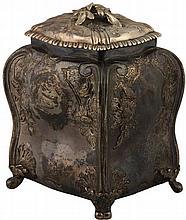 English Hallmarked Sterling Silver George II Bombé Tea Caddy